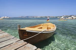 Boat at a Jetty, Palau, Sardinia, Italy, Mediterranean, Europe by Markus Lange