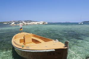 Boat at the Beach, Palau, Sardinia, Italy, Mediterranean, Europe by Markus Lange
