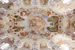 Ceiling frecso, St. Peter and Paul church, Steinhausen, Upper Swabian Baroque Route, Upper Swabia, by Markus Lange