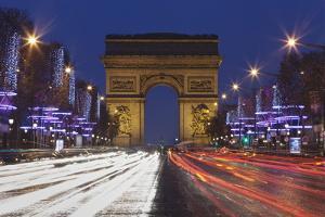 Champs Elysees and Arc De Triomphe at Christmas, Paris, Ile De France, France, Europe by Markus Lange