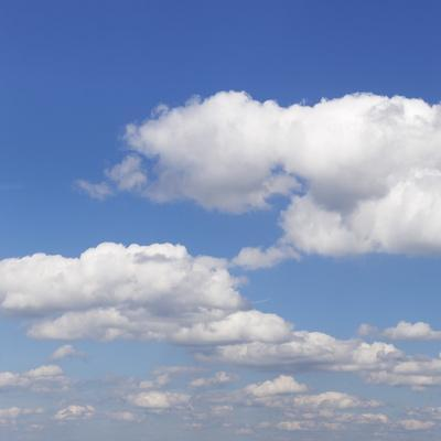 Cumulus Clouds, Blue Sky, Summer, Germany, Europe