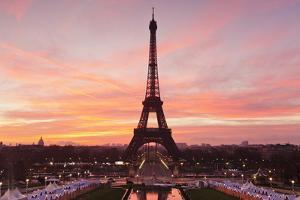 Eiffel Tower at Sunrise, Paris, Ile De France, France, Europe by Markus Lange