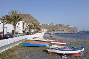 Fishing Boats at the Beach, Playa De Santiago, La Gomera, Canary Islands, Spain, Atlantic, Europe by Markus Lange