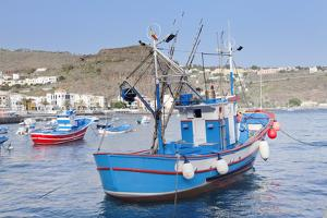 Fishing Boats at the Harbour, Playa De Santiago, La Gomera, Canary Islands, Spain, Atlantic, Europe by Markus Lange
