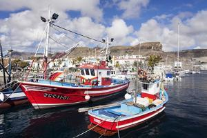 Fishing Boats at the Old Port of Puerto De Mogan by Markus Lange