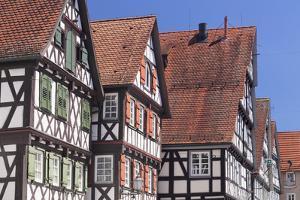 Half-Timbered Houses, Schorndorf, Schurwald Wooded Mountain Range, Baden Wurttemberg, Germany by Markus Lange