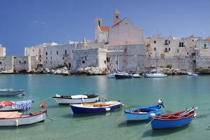 Harbour with Old Town and Cathedral, Giovinazzo, Province of Bari, Apulia, Italy by Markus Lange