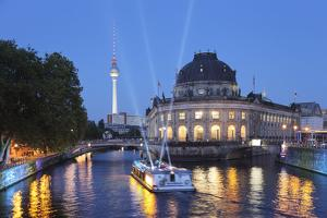 Holiday Ship on the Spree at the Bode Museum, Berlin, Germany by Markus Lange