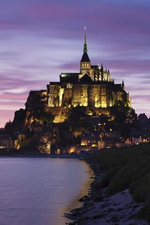 Mont Saint Michel at Sunset