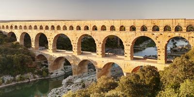 Pont Du Gard, Roman Aqueduct, River Gard, Languedoc-Roussillon, Southern France, France