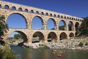 Pont Du Gard, Roman Aqueduct, River Gard, Languedoc-Roussillon, Southern France, France by Markus Lange
