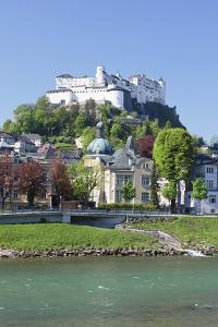 River Salzach with Hohensalzburg Castle and the Old Town by Markus Lange