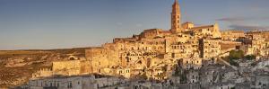 Sasso Barisano and cathedral at sunset, UNESCO World Heritage Site, Matera, Basilicata, Puglia, Ita by Markus Lange