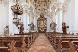 St. Peter and Paul church, Steinhausen, Upper Swabian Baroque Route, Upper Swabia, Baden-Wurttember by Markus Lange