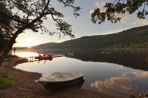 Titisee Lake at sunrise, Black Forest, Baden-Wurttemberg, Germany, Europe by Markus Lange