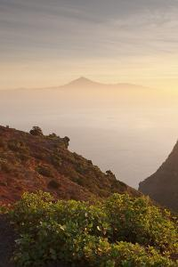 View from Gomera to Tenerife with Teide Volcano at Sunrise, Canary Islands, Spain, Atlantic, Europe by Markus Lange