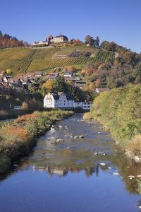 View of Obertsrot at Gernsbach on Castle Eberstein, Black Forest, Baden Wurttemberg, Germany by Markus Lange
