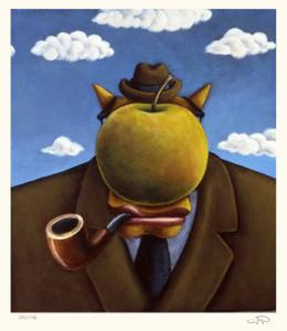 Coyote Portrait of Magritte by Markus Pierson