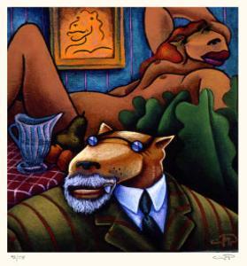 Coyote Portrait of Matisse by Markus Pierson