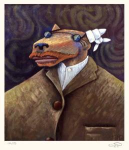 Coyote Portrait of Van Gogh by Markus Pierson