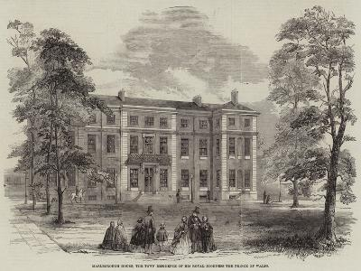 Marlborough House, the Town Residence of His Royal Highness the Prince of Wales--Giclee Print