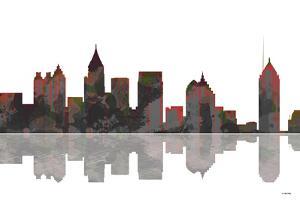 Atlanta Georgia Skyline BW 1 by Marlene Watson