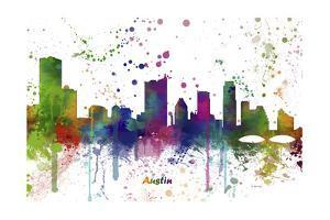 Austin Texas Skyline MCLR 1 by Marlene Watson