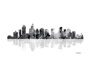 Charlotte NC Skyline BG 1 by Marlene Watson