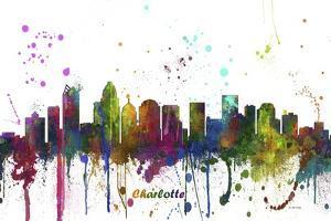 Charlotte NC Skyline MCLR 1 by Marlene Watson