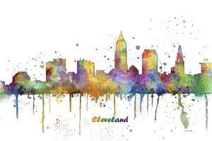 Cleveland Ohio Skyline MCLR 1 by Marlene Watson