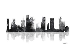 Houston Texas Skyline BG 1 by Marlene Watson