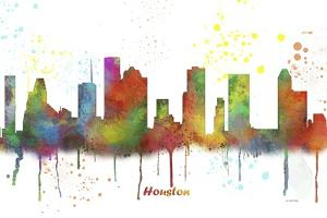 Houston Texas Skyline MCLR 1 by Marlene Watson