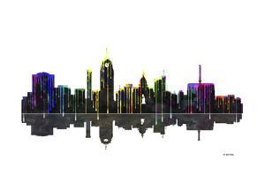 Lansing Michigan Skylines BW 1 by Marlene Watson