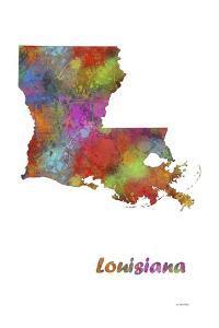 Louisiana State Map 1 by Marlene Watson