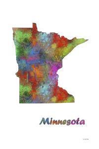 Minnesota State Map 1 by Marlene Watson