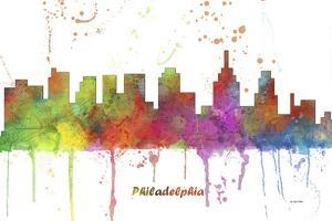 Philadelphia Pennsylvania Skyline MCLR 1 by Marlene Watson