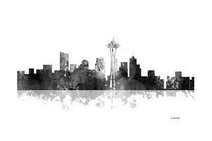 Seattle Washington Skyline BG 1 by Marlene Watson