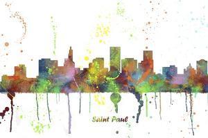 St Paul Minnesota Skyline MCLR 1 by Marlene Watson