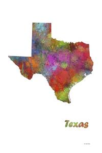 Texas State Map 1 by Marlene Watson