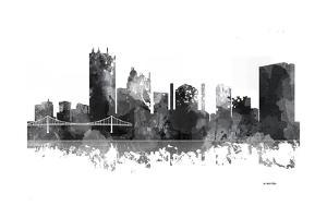 Toledo Ohio Skyline BG 1 by Marlene Watson