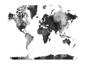 World Map BG 1 by Marlene Watson