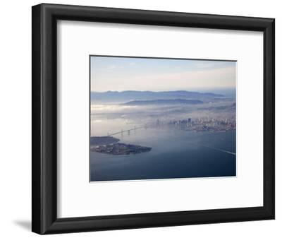 Aerial View of Angel Island, Oakland Bay Bridge and San Francisco, Pacific Ocean, California, USA