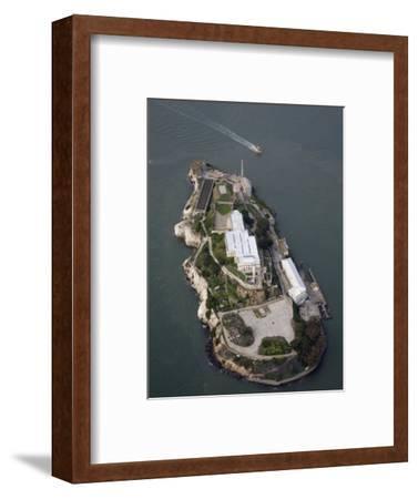 Alcatraz Island and Boat, San Francisco Bay, California