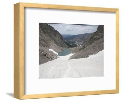Andrews Glacier, a Cirque Glacier at the Upper Reaches of a Glacial Valley in Colorado