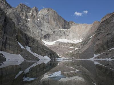 Cirque, Tarn, and Headwall, Chasm Lake and Longs Peak, Rocky Mountains, Colorado, USA by Marli Miller