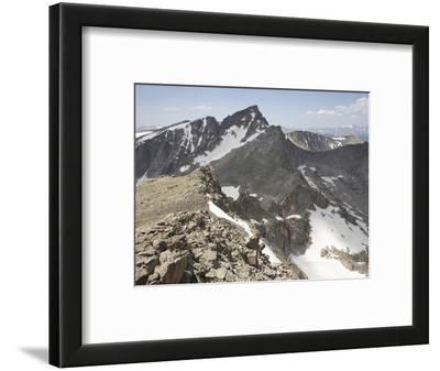 Glacial Arete That Separates Two Glacial Cirques in the Rocky Mountains, Colorado, USA
