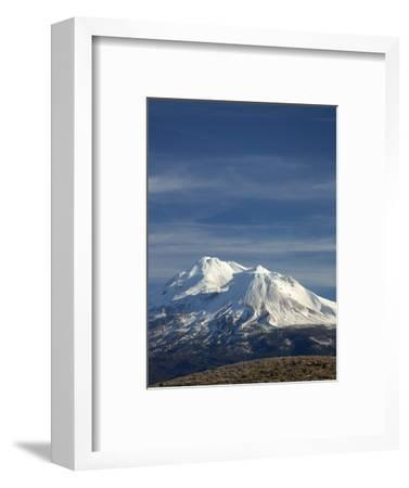 Mt Shasta, Dormant Stratovolcano in Northern California, Showing at Least Three of the Four