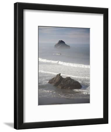 Seastacks, Which Mark Former Positions of the Coastline, Stand Up Out of the Surf Near Bandon