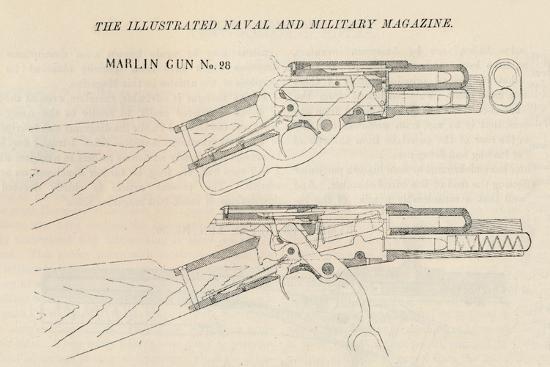 Marlin Gun No. 28, 1884--Giclee Print