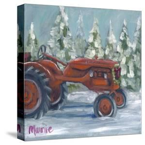 Tractor-4 Seasons-Allis Chalmers Holiday by Marnie Bourque
